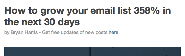 Using a byline to get sign ups to your email list