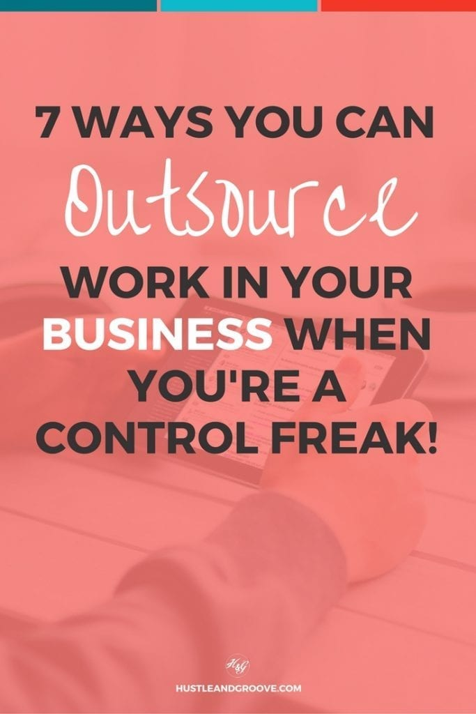 How to outsource work in your business when you're a control freak. Including strategies for automation too. Click through to read more.